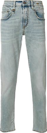 R13 five pockets tapered jeans - Azul