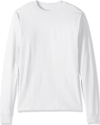 Hanes Mens Beefy Long Sleeve Shirt, White, 3XL