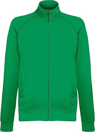 Fruit Of The Loom Mens Lightweight Full Zip Sweatshirt Jacket (2XL) (Kelly Green)
