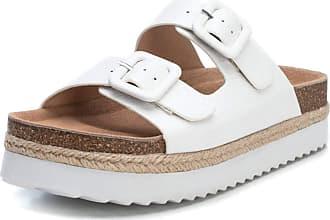 Refresh 69643 Womens Sandals Platform Double Buckle White Size: 5 UK