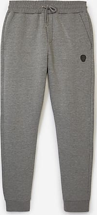 The Kooples Skinny heather grey joggers w/leather badge - MEN