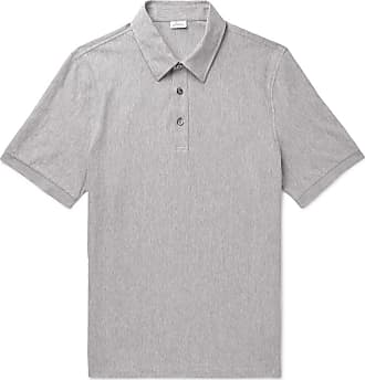 47221a04315 Brioni Herringbone Cotton-jersey Polo Shirt - Gray