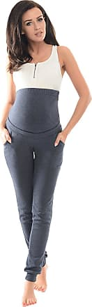 Purpless Maternity Pregnancy Over Bump Support Joggers Comfortable Trousers for Pregnant Women 1307 (10, Navy Melange)