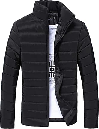 Generic Mens Winter Packable Stand Collar Puffer Down Jackets Black M