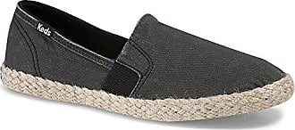 Keds Womens Chillax A-line Jute Seasonal Solid Fashion Sneaker, Black, 8 M US
