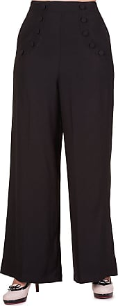 Banned Womens Flared Trousers Black Black - Black - XXXX-Large