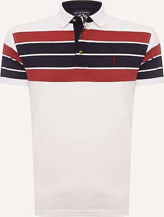 Aleatory Camisa Polo Aleatory Listrada Free-Branco-XGG