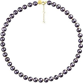 Misaki Collier ras de cou Bb de perles bleu nuit