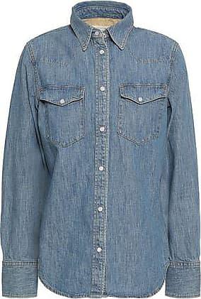 Rag & Bone Rag & Bone Woman Corbet Faded Denim Shirt Mid Denim Size XS