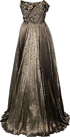 Oscar De La Renta lamé mousseline gown - GOLD