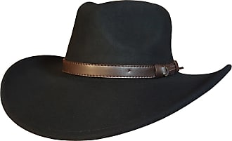 Infinity Unisex Leather Bush Safari Aussie Cowboy Style Classic Western Outback Hat