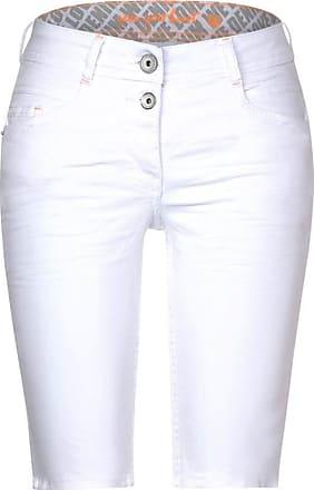 Cecil Weiße Loose Fit Shorts - white denim
