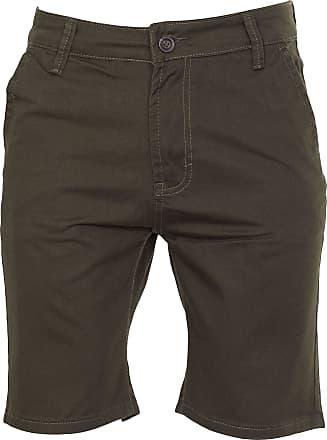 Noroze Mens Plain Cotton Chino Shorts (34, Khaki)