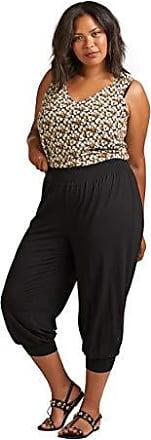 Zizzi Damen Große Größen Hose Locher Fit 78 Lang Cropped