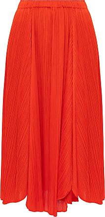 Issey Miyake Pleaed Skirt Womens Red