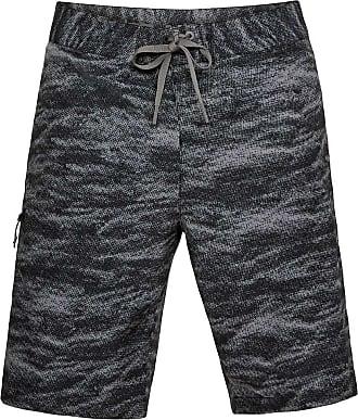b1fbbaaa61359 Under Armour Mens UA Reblek Printed Boardshort - 30 - Black / Stealth Grey  / Graphite