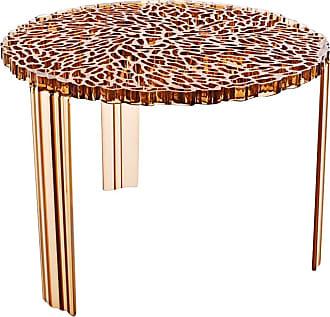 Kartell T-table Beistelltisch (H36cm) - bernstein/transparent