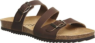 Office Bounty Cross Strap Footbed Brown Leather - 3 UK