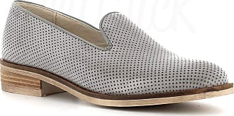 Generico Made in Italy Moccasin in Leather - Grey Grey Size: 8 UK