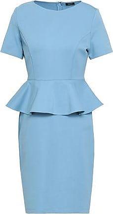 Raoul Raoul Woman Stretch-ponte Peplum Dress Light Blue Size XS