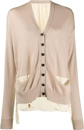 Uma Wang long sleeve button-up cardigan - NEUTRALS
