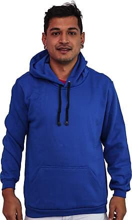 Atelier do Silk Blusa Moletom Unissex Capuz Bolso Canguru Liso Flanelado Cor:Azul;Tamanho:GG