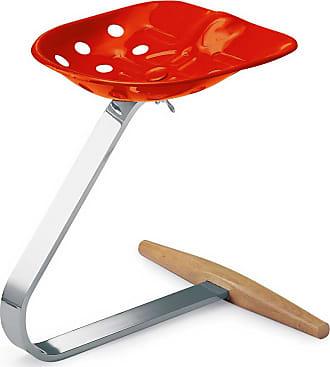 ZANOTTA Design Mezzadro Stool Chrome & Orange