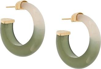 Gas Bijoux Par de brincos Abalone - Verde