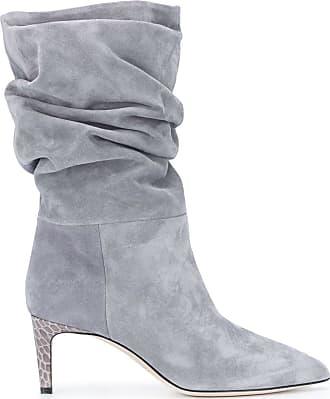 PARIS TEXAS slouchy mid-heel boots - Cinza