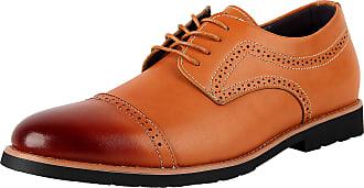 iLoveSIA Mens Formal Wingtip Cap-Toe Dress Oxford Leather Shoe Brown UK Size 6.5