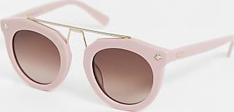 MCM Occhiali da sole rotondi con barretta-Rosa