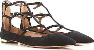 Aquazzura Ballet Flats Ballerina Shoes for Women On Sale, Black, Suede leather, 2017, 7 8.5 9 9.5