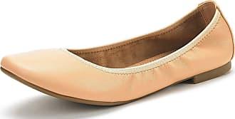 Dream Pairs Womens Slip On Round Toe Ballerina Ballet Flats Pumps Shoes Latte Nude Pu Size 9.5 US/7.5 UK