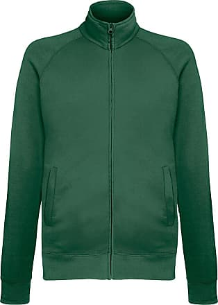 Fruit Of The Loom Mens Lightweight Full Zip Sweatshirt Jacket (M) (Bottle Green)