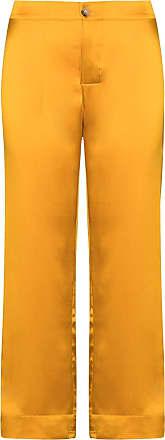 Asceno Cropped-Hose aus Seide - Orange