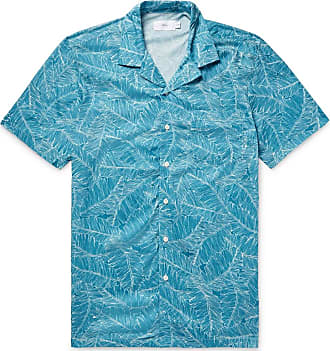 Onia Camp-collar Printed Voile Shirt - Teal