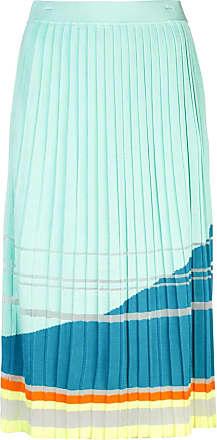 I-am-chen Saia midi de tricô com pregas - Azul