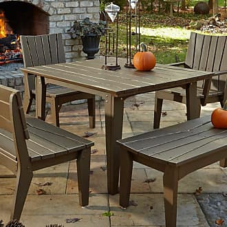 UWharrie Chair Outdoor Uwharrie Hourglass 48-in. Square Patio Dining Table - H092-028ZP