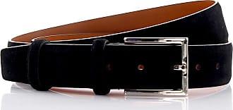 Santoni Mens belt suede black