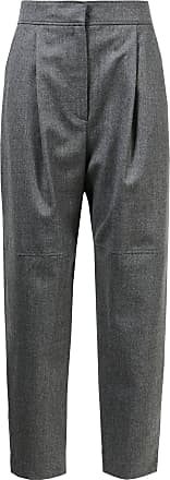 Brunello Cucinelli Flanellhose mit Ziernähten Grau