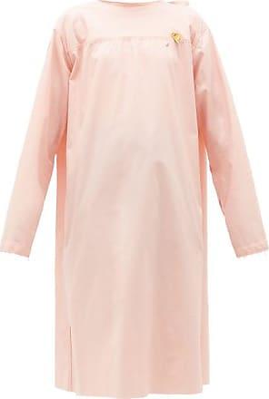 Raf Simons Tie-back Cotton-poplin Midi Dress - Womens - Light Pink