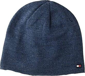 1f17229b819e25 Tommy Hilfiger Mens Cold Weather Knit Beanie, Indigo, One Size