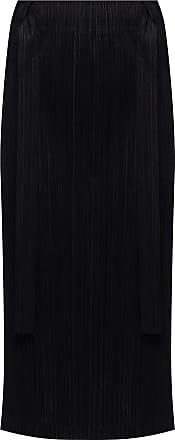 Issey Miyake Pleated Skirt Womens Black
