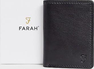 Farah Cody Roma - Dreifach faltbare Brieftasche in Schwarz mit geprägtem f