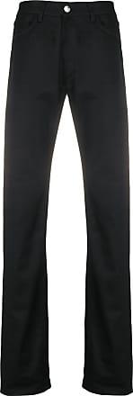 Raf Simons Calça jeans reta cintura média - Preto