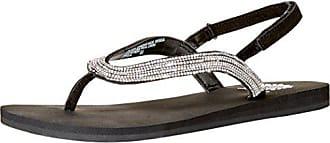 Yellow Box Womens Attwell Flat Sandal Clear 8.5 Medium US