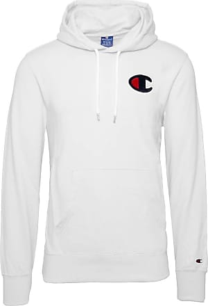 Champion Mens Hooded Sweatshirt White Size: Medium