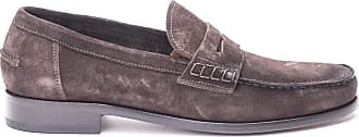 Doucal's Brown Suede Penny bar Loafers, 44