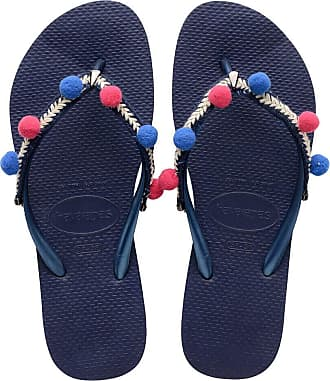 Havaianas Womens HAV Slim Boho Navy Blue Flip-Flop, Multicolor (Black), 3 UK