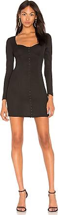J.O.A. Long Sleeve Bustier Dress in Black